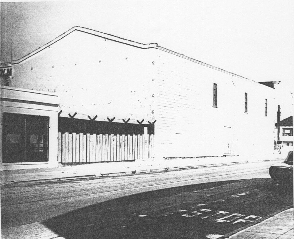 Historic view of Bayview Opera House from Mendell Street