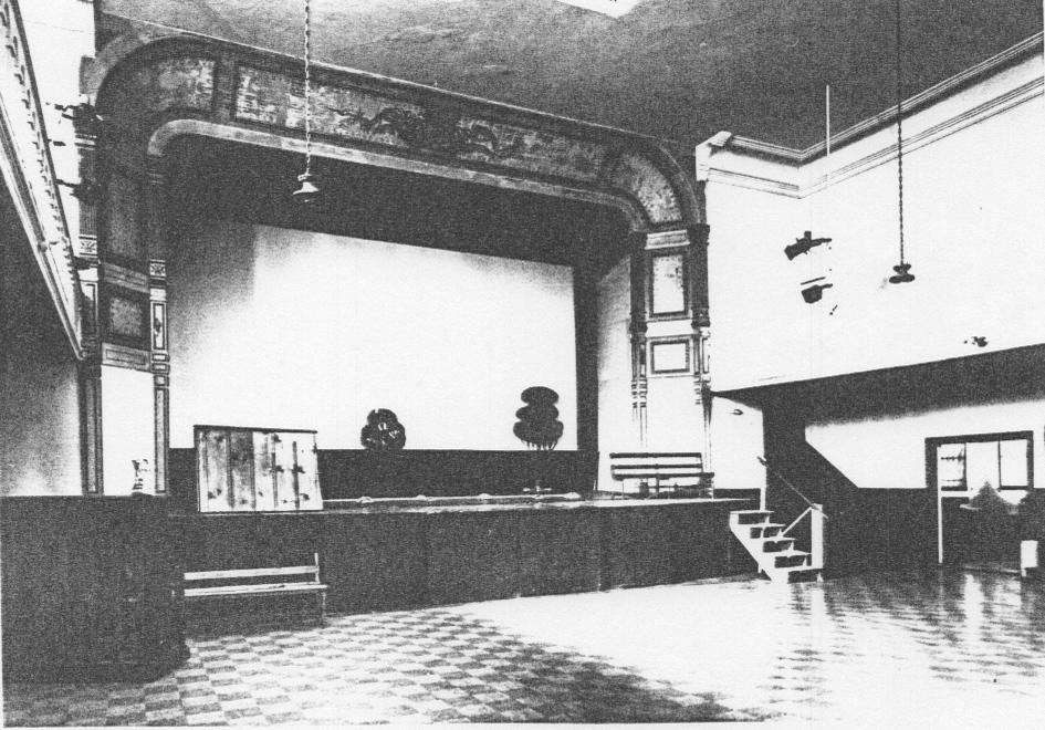 Historic picture of the original stage