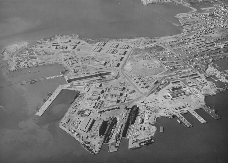 Hunter's Point Shipyard bird's eye view