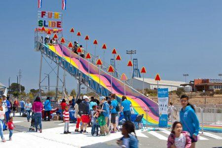Fun Slide at the Circus Festival at NOW Hunters Point