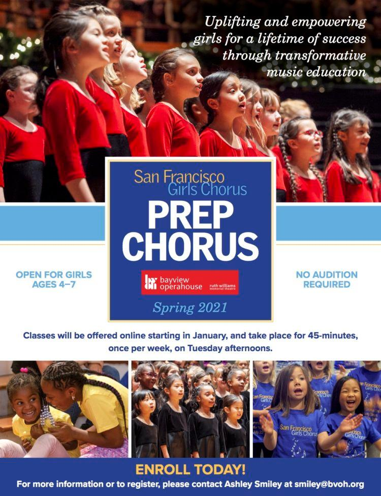 Spring Registration Opening Soon for SFGC Prep Chorus