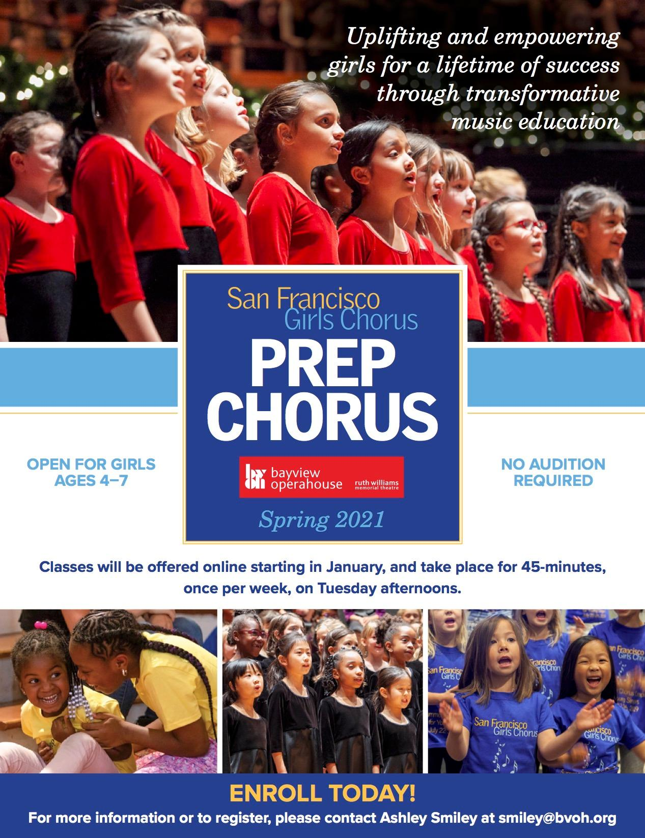 Spring Registration Opening Soon for SFGC Prep Chorus