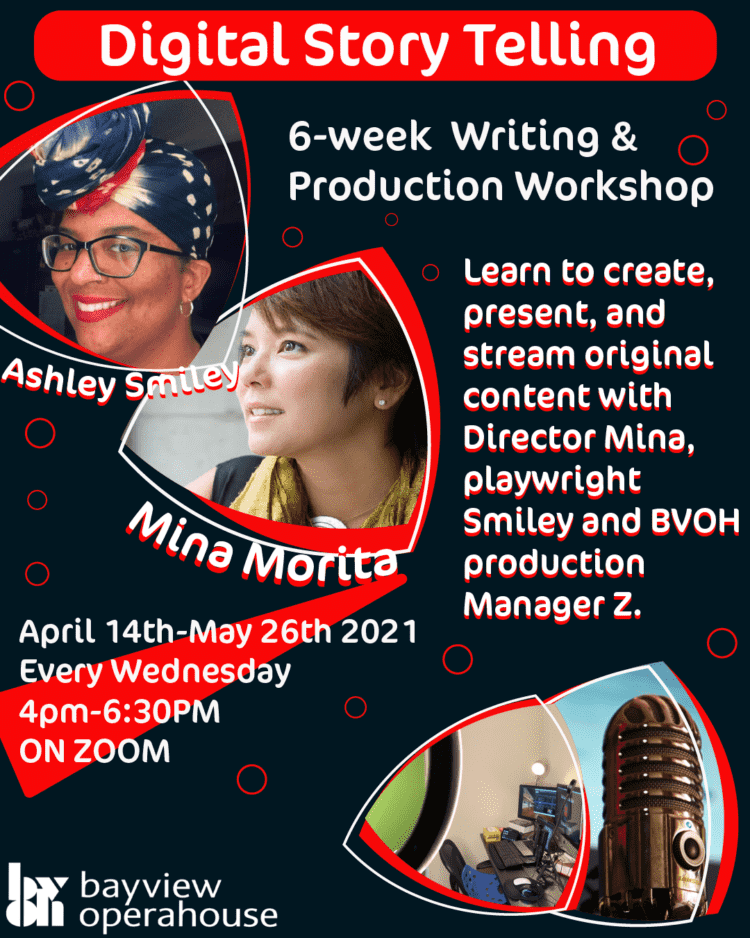 Digital Storytelling Writing and Production Workshop  Six week program for youth   begins april 14th