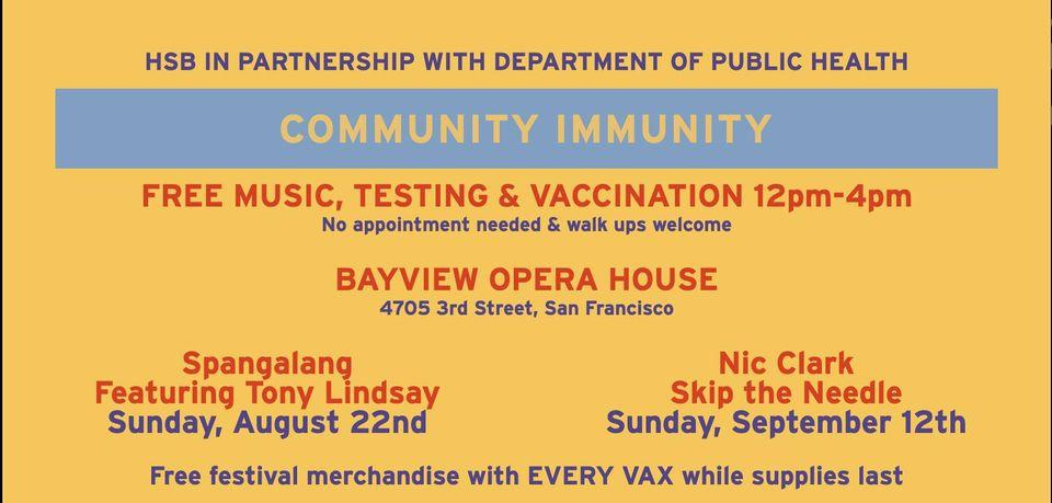 get vaxxed at BVOH with hardly strictly bluegrass